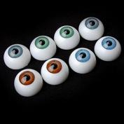 Winomo 8pcs Hollow Eyeball Mask Halloween Horror Props Costume Plastic Eyeballs