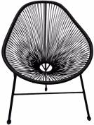 Black Rattan Style Patio Armchair Seat Outdoor Durable Sturdy Garden Furniture