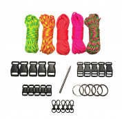 30m Bold & Bright Paracord Bracelet Kit XXL by Stockstill Outdoor Supply