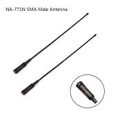 SMA Male Antenna Dual Band 2m/70cm Whip Handheld Radio Antenna Portable Replacement for YAESU/Vertex VX-110 VX-130 -132 TYT TH-2R TH-F5 TH-F8 Baofeng BF- UV3R