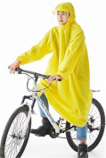 Biscount Helmet & Sleeves Rain Poncho Bike Waterproof Cycle Rain Cape For Outdoor Sports Camping,Hiking,Fishing,Cycling - Full Face Cover Yellow