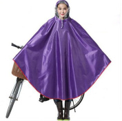 Biscount Knitting Oxford fabric Waterproof Rain Poncho Cycle Rain Cape For Outdoor Sports Camping,Hiking,Fishing,Cycling-Thicken Coating XXXXL Purple