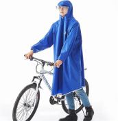 Biscount Helmet & Sleeves Rain Poncho Bike Waterproof Cycle Rain Cape For Outdoor Sports Camping,Hiking,Fishing,Cycling - Full Face Cover Blue