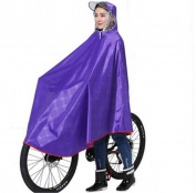 Biscount Grid Oxford fabric Waterproof Rain Poncho Cycle Rain Cape For Outdoor Sports Camping,Hiking,Fishing,Cycling-XXXXL Purple