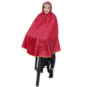 Biscount Oxford fabric Waterproof Rain Poncho Cycle Rain Cape For Outdoor Sports Camping,Hiking,Fishing,Cycling-XXXL Red