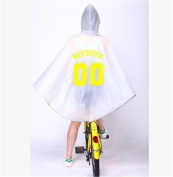 Biscount EVA Fashion Girl Scooter Rain Poncho Cycle Rain Cape Raincoat-Yellow 00