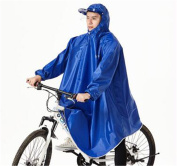 Biscount Helmet & Sleeves Rain Poncho Bike Waterproof Cycle Rain Cape For Outdoor Sports Camping,Hiking,Fishing,Cycling - Half Face Cover Blue