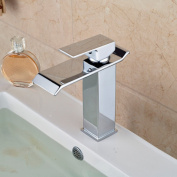 LDONGSH Hot And Cold Copper Waterfall Stainless Steel European Style American Style Satin Finish Wash Basin Electroplating Faucet