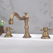 LDONGSH Into The Wall Spiral Hot And Cold Bathtub Three Holes European Style American Style Satin Finish Wash Basin Faucet