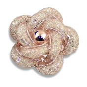 Merdia Fashinable and Refined Hollow-Out Brooch Breastpin with Rose Gold colour for girls ladies and women