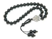 A1-1074 - Beautiful Hematite Gemstone Prayer Beads Worry Beads Tasbih Handmade by Jeannieparnell