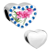 Uniqueen Flower Charm Beads For Bracelets Charms