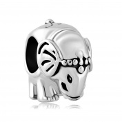 Uniqueen Elephant Animal Charms Beads fit Charm Bracelet