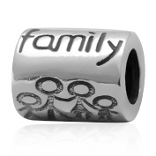 Shining Charm All My Family Together Forever 925 Sterling Silver Charms European Beads for Bracelets