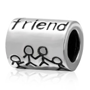 Friends Together Forever 925 Sterling Silver Charms for Best Friend European Beads for Bracelets-Shining Charm