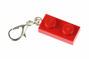 Lego 2 platelets plate Charm for Bracelet Wristlet Dangle Miniblings charm red