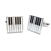 Black & White Enamelled Piano Keys Cufflinks Gift Music Fan Cuff Links