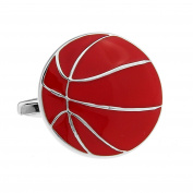 Sports Basketball Silver Cuff Links Paint Plating Cufflinks