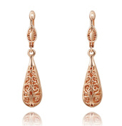 Rose Gold Hollow Out Drop Earrings