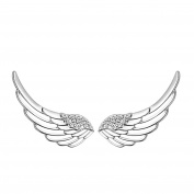Sewanz Women's Sterling Silver Crystal Angel Wings Ear Wrap, Sweep Cuff Hook EarringsEar Clips