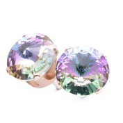 9mm Rose Gold stud earrings expertly made with Starlight crystal from ®.