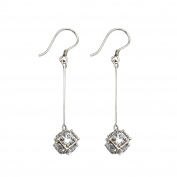 VALE IMPRESSION Elegant 925 Sterling Silver Micro Diamond Drops Earrings Jewellery for Women Girls