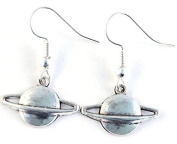 Purposefull Saturn Charms Drop Earrings with FREE Velvet Gift Pouch