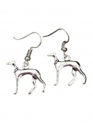 Purposefull Greyhound Dog Drop Earrings WITH FREE gift bag