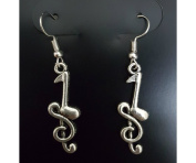 Purposefull- Silver Music Notes Earrings-Treble Cleft and Quaver