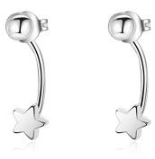iszie jewellery sterling silver sweet little mini star earrings, star earring jackets