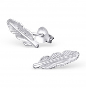 iszie jewellery sterling silver Pretty Little Feather Stud Earrings