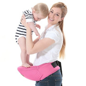 ThreeH Baby Hipseat Belt Carrier Waist Stool Strong Buckle Baby Sling Hold BC10,Pink