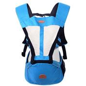 ThreeH Ergonomic Baby Carrier Detachable Hip Seat Breathable Mesh BC03,Blue
