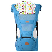 ThreeH Baby Carrier Hipseat Breathable Mesh 4 Carry Positions BC05,Blue