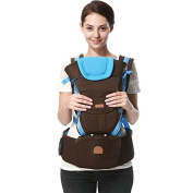 ThreeH Baby Carrier Backpack with Hip Seat 3 Carry Positions For Toddlers BC01,Blue