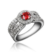 Gifts for Women Exquisite Rings 18k plated AAA Clear Cubic Zirconia Attractive Quality for Girls