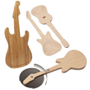 Guitar Chopping Board Pizza Salad Servers Kitchen Utensils Kitchen Rock Star