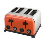 Kalorik Kitchen Originals Crush 4 Slice Stainless Steel Toaster, Coral