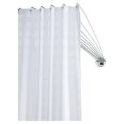 Sealskin 272226304 Shower Spider Umbrella The Flexible Shower Curtain Rod,