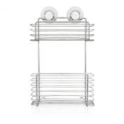Lock 'n' Roll 2-tier Rectangular Wide Shower Basket. Huge Saving