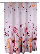 Zhh Waterproof Shower Curtain Polyester Bath Curtain With Hooks Dandelion180cm