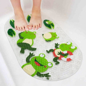 Anti Slip Bathmat Bligli Pvc Cute Cartoon Kid Bath Mats With Suction Cups Frogs