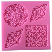 Karen Baking Classic Pattern Flowers Silicone Decorating Chocolate Cake Mould