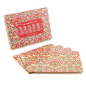 Set Of 4 William Morris Strawberry Thief Bird Cork Backed Dining Table Placemats