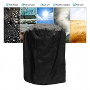 King Do Way Waterproof Round Barbecue Bbq Cover Grill Outdoor Dust Rain With Bag