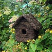 Wooden Bird House Rattan Effectbird Home Nesting Box Wooden Hook