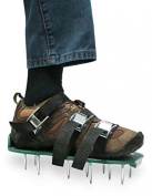 Zdtech Lawn Aerator Shoes Heavy Duty Spiked Sandals Metal Buckles And 3 Straps