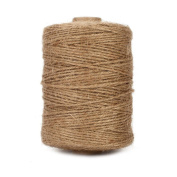 Tenn Well Jute Twine, Natural Thick Jute String 3ply Jute Rope For Floristry, Gi