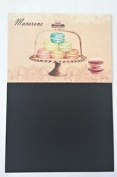 Metal Chalk Board Shabby Message Memo Notes Kitchen Cafe Macaroon Cakes