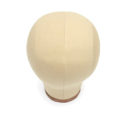 HmtAfro Short Cork Canvas Head Block for Wig Styling Making Drying Beige